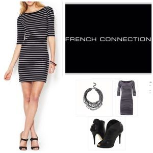 NWT French Connection Black Jersey knit dress